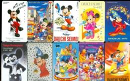 10 Télécartes Différentes DISNEY JAPAN (LOT 8)  10 DIFFERENT PHONECARDS DISNEY  * 10 VERSCHIEDENE TELEFONKARTEN DISNEY - Disney