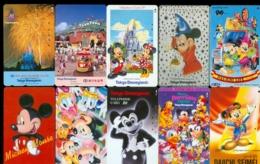 10 Télécartes Différentes DISNEY JAPAN (LOT 9)  10 DIFFERENT PHONECARDS DISNEY  * 10 VERSCHIEDENE TELEFONKARTEN DISNEY - Disney