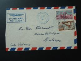 Lettre De Djibouti Par Avion Pour Le Vietnam Cote Des Somalis 1952 - Französich-Somaliküste (1894-1967)