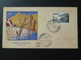 FDC Barrage Dam électricité Electricity Maroc 1953 - Lettres & Documents