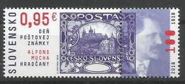 SK 2018-676 Stamp Day: A. Mucha - Hradčany SLOVAKIA, MS, MNH - Ungebraucht