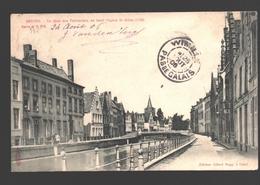 Brugge / Bruges - Le Quai Des Teinturiers, Au Fond L'Eglise St; Gilles - 1906 - Enkele Rug - Brugge