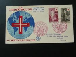FDC Croix Rouge Red Cross Epinal 88 Vosges 1956 (ex 1) - Croix-Rouge