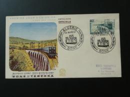 FDC Train Pont Bridge Algérie 1957 - Eisenbahnen
