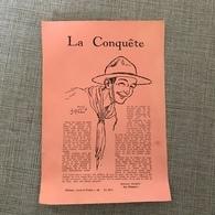 LA CONQUETE ED. 'SCOUT DU PONTIA' HUY ECLAIREUR HARRY ( Le Pionnier ) Illustr. JEAN DROIT - Vieux Papiers