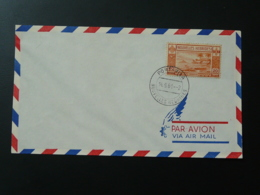Lettre Cover Timbre Volcan Volcano Nouvelles Hebrides 1961 - Briefe U. Dokumente