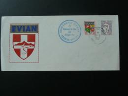 Lettre Cessez Le Feu En Algérie Conférence D'Evian 74 Haute Savoie 1962 - Marcophilie (Lettres)
