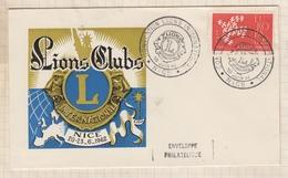 9/10 Premier Jour FDC 1962 LIONS CLUBS NICE - FDC