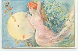 N°12669 - Jeune Femme Nue Sentant Une Fleur - Other Illustrators