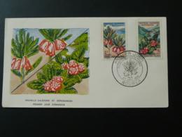 FDC Fleurs Nouvelle Calédonie 1964 - FDC