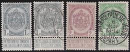 Belgie  .    OBP   .     81/83         .     O  En *      .   Gebruikt   En Ongebruikt - 1894-1896 Exhibitions