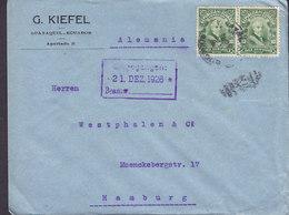 Ecuador G. KIEFEL, GUAYAQUIL 1926 Cover Letra HAMBURG Germany 2x Garcia Moreno - Ecuador