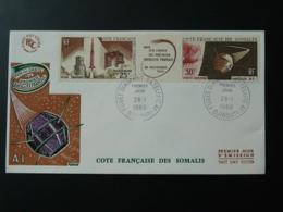 FDC Fusée Diamant Satellite A1 Cote Des Somalis 1966 - Französich-Somaliküste (1894-1967)