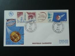 FDC Fusée Diamant Satellite A1 Nouvelle Caledonie 1966 - Telecom
