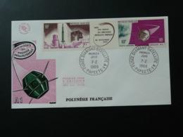 FDC Fusée Diamant Satellite A1 Polynesie 1966 - Telecom