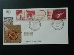 FDC Fusée Diamant Satellite A1 Wallis Et Futuna 1966 - FDC & Commemoratives