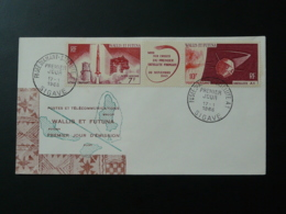 FDC Fusée Diamant Satellite A1 Wallis Et Futuna 1966 - Oceanië