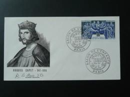 FDC Burin D'Or Gravure De Betemps Engraving Roi King Hugues Capet Paris Salon De L'enfance 1967 - 1960-1969