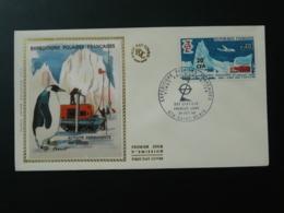 FDC 20 Ans Expeditions Polaires Réunion Surchargé CFA 1968 - Events & Commemorations