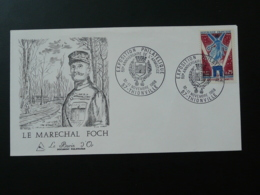 FDC Burin D'Or Gravure Engraving Maréchal Foch Thionville 57 Moselle 1968 - WW1