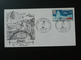 FDC Burin D'Or Gravure Engraving 20 Ans Expéditions Polaires Polar 1968 - Events & Commemorations