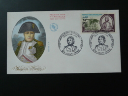 FDC Napoleon Bonaparte Red Cross Réunion Surchargé CFA 1969 - Napoléon