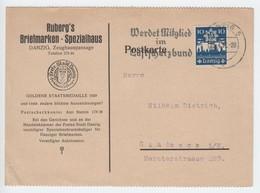 Danzig 1937 , Karte Von Rubergs Briefmarken Spezialhaus - Germany
