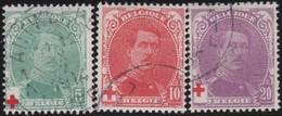 Belgie  .    OBP   .     129/131      .     O        .  Gebruikt   .     /    .   Oblitéré - 1914-1915 Croix-Rouge