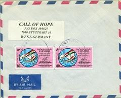 1990 , JORDANIA , SOBRE CIRCULADO MADABA - STUTTGART , ARAB COOPERATION COUNCIL - Jordania
