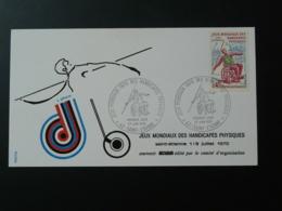 FDC Jeux Mondiaux Handicappés Physiques Handisport Olympic Games Saint Etienne 1970 - Handisport