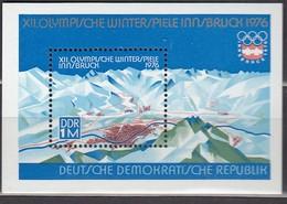 1976 INNSBRUCK - DDR - MiNr: 2105 Block 43 ** / MNH - Winter 1976: Innsbruck