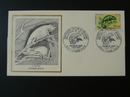 FDC Thiaude Cameleon Chameleon Réunion CFA 1971 - Reptiles & Batraciens