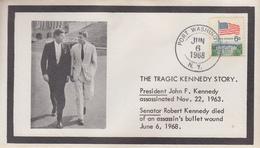 Enveloppe   U.S.A   The   TRAGIC  KENNEDY  STORY    1968 - Kennedy (John F.)