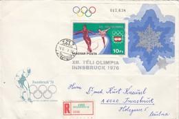 1976 INNSBRUCK - Ungarn - MiNr: 3096A Block 116A Auf Rekobeleg - Winter 1976: Innsbruck
