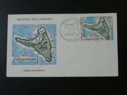 FDC Ile D'Anjouan Comores Poste Aérienne 1972 - Storia Postale