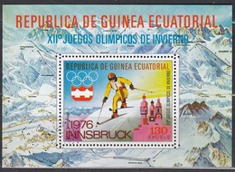 1976 INNSBRUCK - ÄquatGuinea - MiNr: 546 Block 159 - Winter 1976: Innsbruck