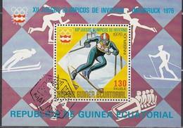 1976 INNSBRUCK - ÄquatGuinea - MiNr: 773 Block 205 - Winter 1976: Innsbruck