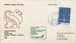 1982 IRÁN , PRIMER VUELO / FIRST FLIGHT , TEHERAN - ESTAMBUL - FRANKFURT - Iran