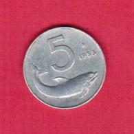ITALY  5 LIRE 1953 (KM # 92) #5255 - 5 Lire