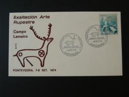 Lettre Cover Peintures Rupestres Rupestral Paitings Pontevedra Espagne Spain 1974 - Prehistory