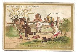 CHROMO - MAISON DE LA BELLE JARDINIERE - Les Chevaux - Trade Cards