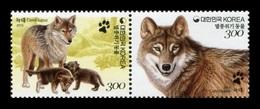 South Korea 2015 Mih. 3063/64 Fauna. Endangered Wildlife. Wolf MNH ** - Corée Du Sud