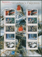 Isle Of Man 2004 Weihnachten Rotkehlchen Kleinb. 1170/74 K Postfrisch (C90675) - Isla De Man