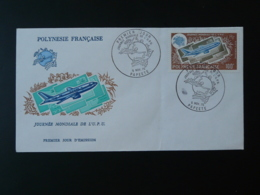 FDC Journée Mondiale UPU Polynésie 1975 (état Moyen) - UPU (Union Postale Universelle)