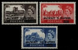 Kuwait 1955 - Mi-Nr. 108-110 ** - MNH - Burgen - Queen Elizabeth - Kuwait