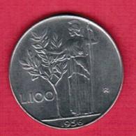ITALY  100 LIRE 1956 (KM # 96) #5260 - 1946-… : Republic