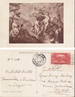 """1929 ITALIA - CARTOLINA SOGGETTO """"PITTONI:Diana E Atteone"""" Affrancata C.20 MONTECASSINO. - Marcophilia"""