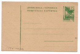1970s  YUGOSLAVIA, 15 PARA, STATIONERY CARD, NOT USED - Ganzsachen