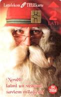*LETTONIA* - Scheda A Chip Usata - Christmas