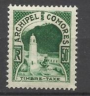 Comores Taxe N°  1 Neuf *  TB       Soldé à Moins De  20  % ! ! ! - Unused Stamps